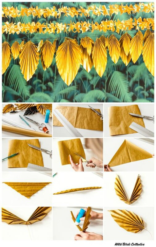 tuto guirlande tropicale via pinterest