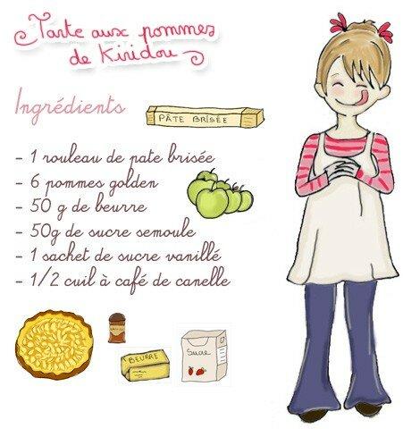 Tarte aux pommes kiridou - Dessin tarte aux pommes ...