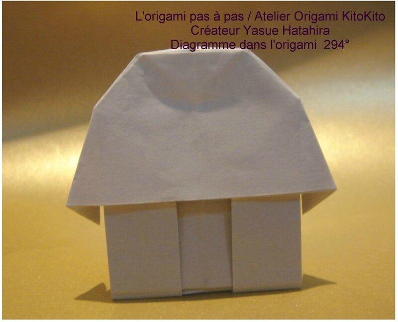 maison sous la neige l 39 origami pas pas atelier. Black Bedroom Furniture Sets. Home Design Ideas