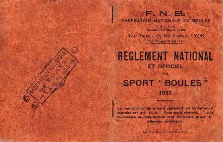 Boules Lyonnaise Livre FFB 1937