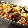 Salade de pâtes au légumes d'été grillés!