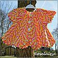Roselaine109 gilet pétale