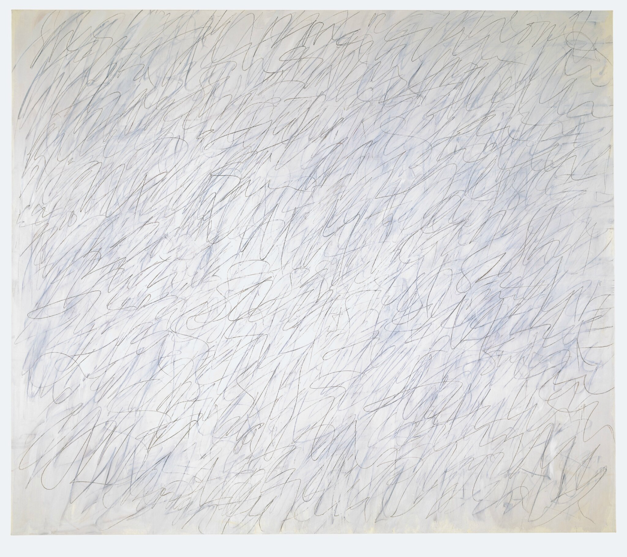 Exhibition of painting & sculpture by Cy Twombly on view at Kunstmuseum Basel