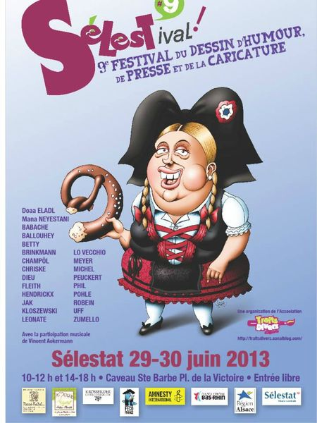 SELESTAT 2013 FESTIVAL CARICATURE PRESSE