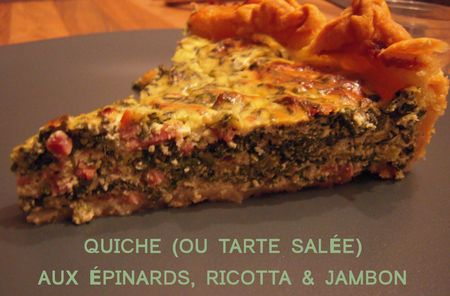 quiche épinards ricotta coupée