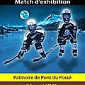 Match d'exhibition de hochey sur glace à pont-du-fossé le 03/03/2015