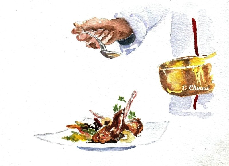Gastronomie cuivre jaune