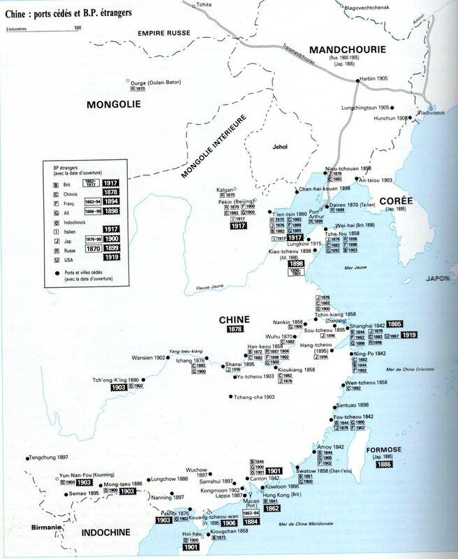 Carte Chine - Bureaux étrangers