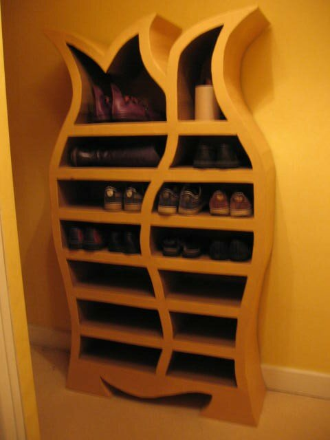 meuble chaussures photo de meubles en carton cartonneries et compagnie. Black Bedroom Furniture Sets. Home Design Ideas