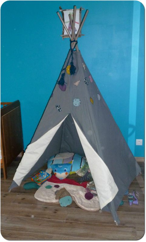 la cachette the tipi chez popidine. Black Bedroom Furniture Sets. Home Design Ideas
