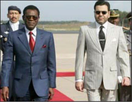 Rabat, October 26, 2006, HRH Prince Moulay Rachid received Teodoro Obiang Nguema Mbasogo, the president of Equatorial Guinea.