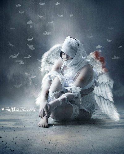 Même les anges tombent et sont blessés ...