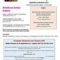 Programme des ateliers dentelle et broderie - septembre 2017