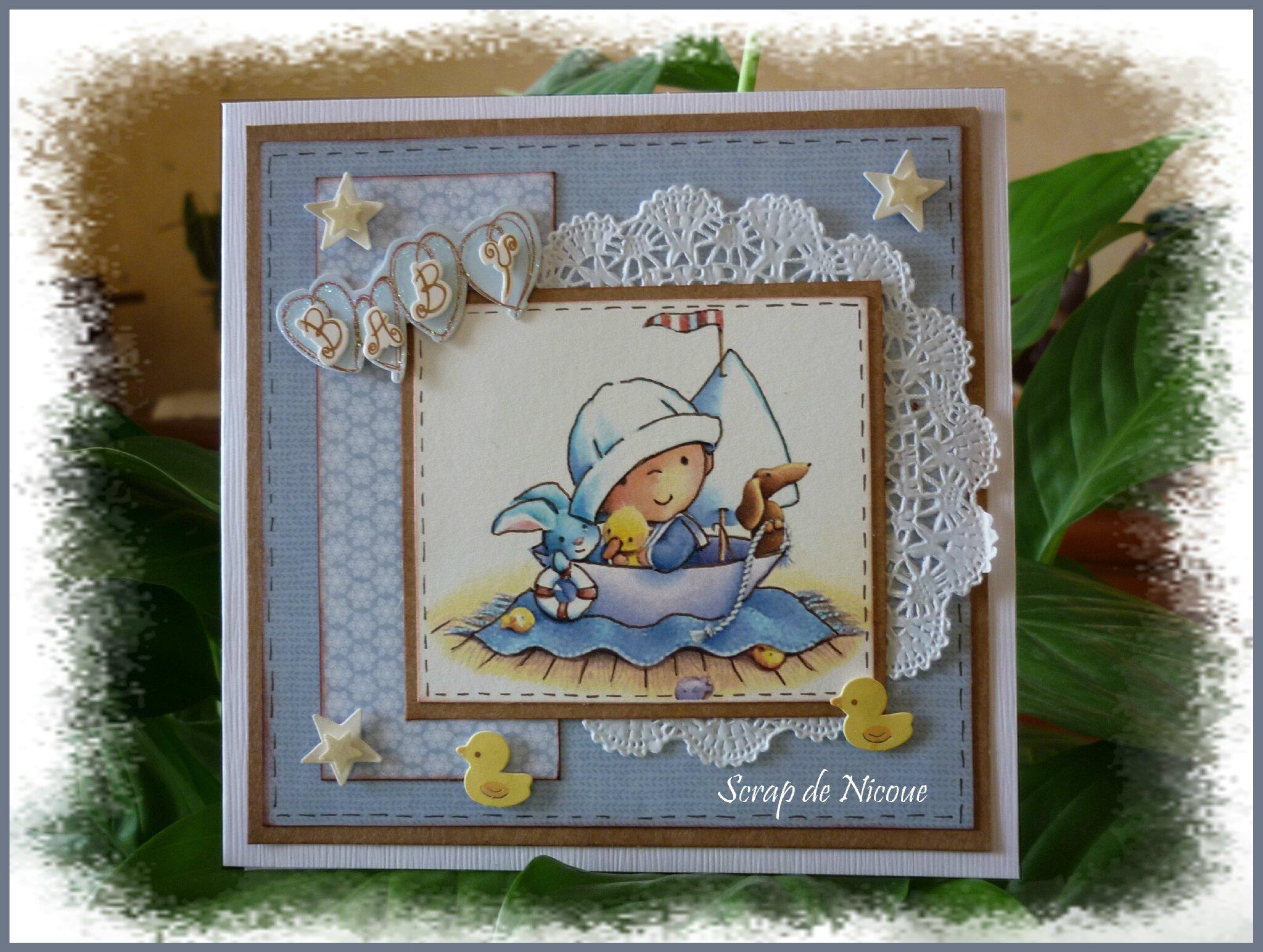 """Carte naissance """"Ohé moussaillon"""" ..."""