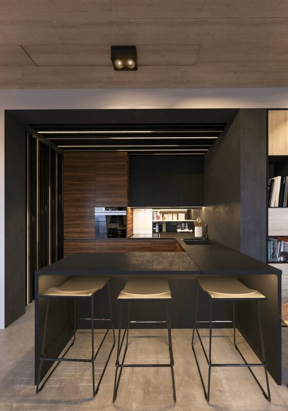 three-wood-and-steel-stools-industrial-kitchen