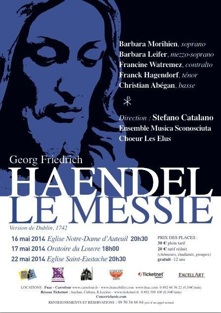 Le Messie d'Haendel avec Barbara Morihien (version dite « de Dublin)