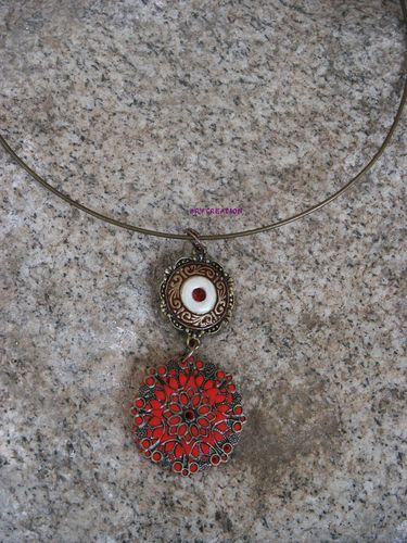 pendentif rouge lyvia