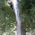 Le sentier des cascades à Jacob Bellecombette