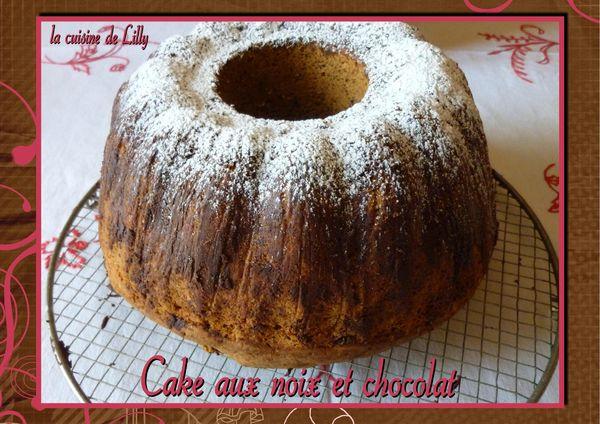 cake aux noix et chocolat