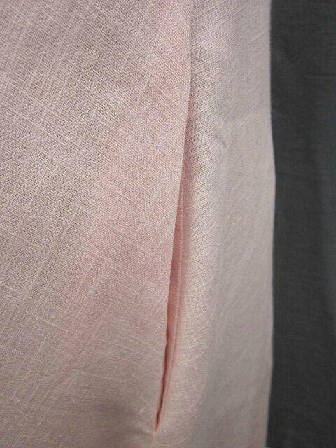 Robe EUPHRASIE en lin rose (4)