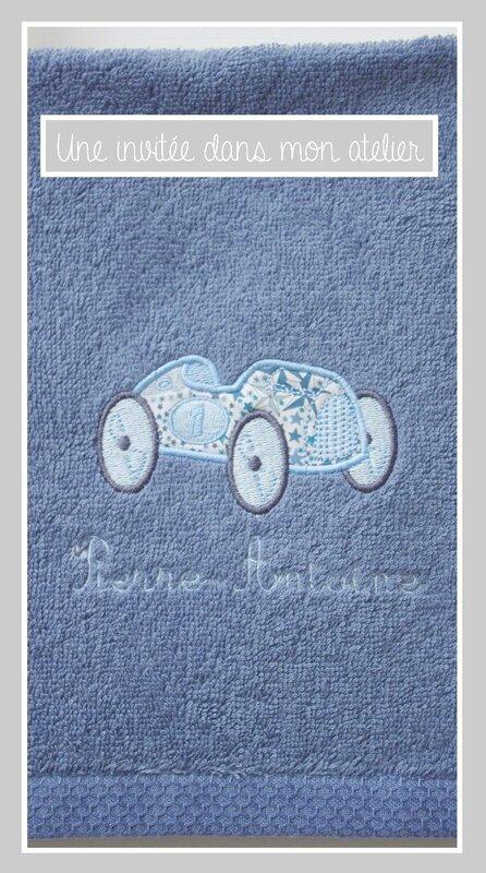 petite serviette de toilette-personnalisée-Liberty Adelajda