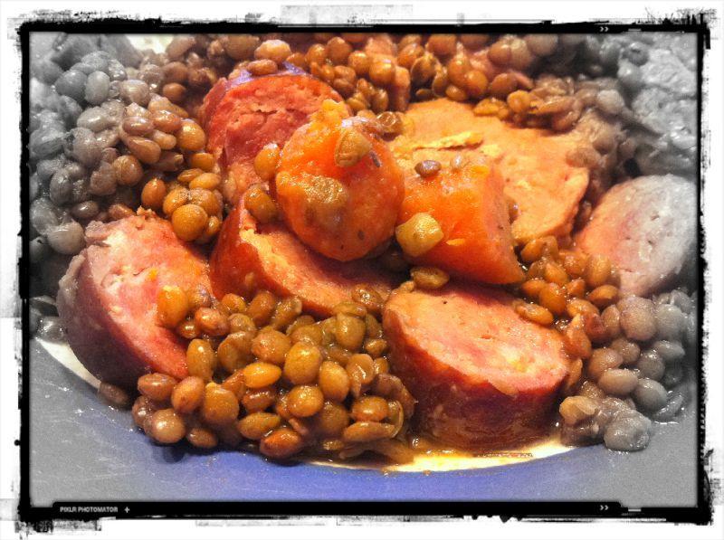 268 petit sal aux lentilles la cocotte minute mes recettes votre disposition - Cuisson lentilles cocotte minute ...