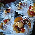 Mini-tarte royal ( fruits sec et caramel)