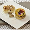 Cabillaud en crumble de parmesan aux noix et sa polenta d'automne