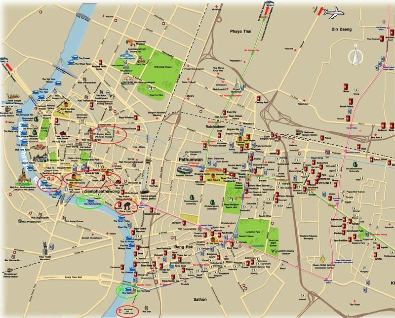 carte-bangkok-visiter-bangkok-en-3-jours