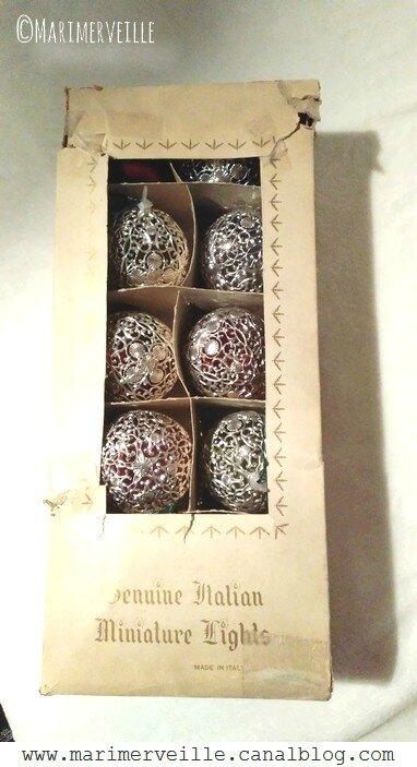 boîte vintage guirlande lumineuse années 50 - Marimerveille