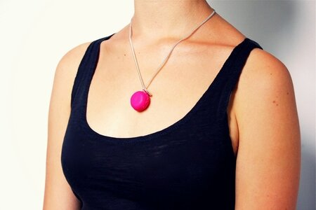 Collier_macaron_rose_pop