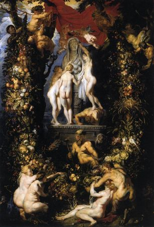 Nature-adorning-the-three-graces-by-Rubens-and-Brueghel