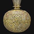 A gem-set silver-gilt huqqa base, india, early 18th century