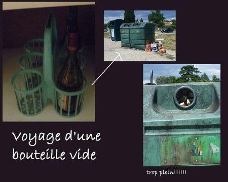 voyage d'une bouteille vide