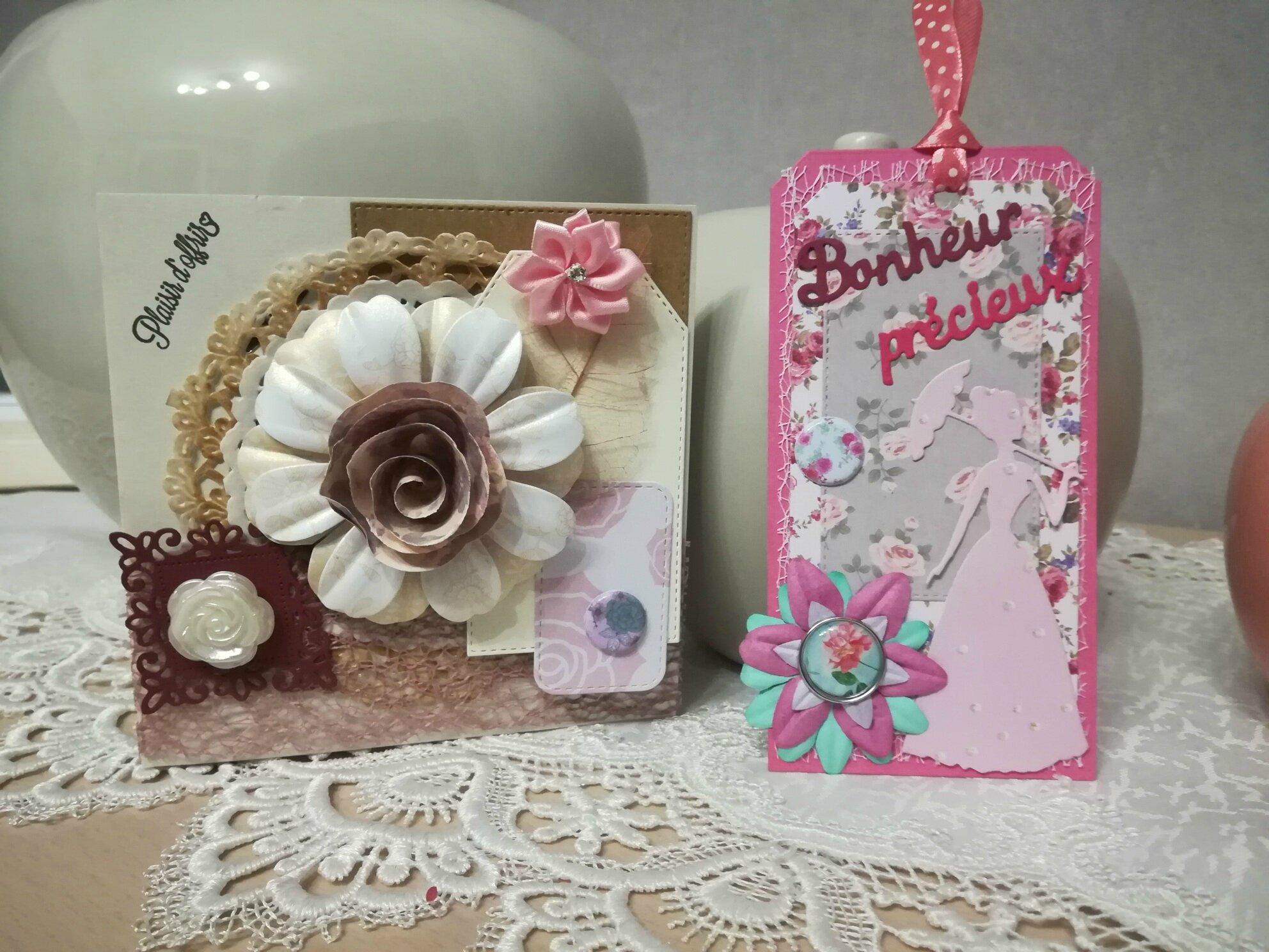Carte et marque-page pour un anniversaire