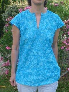 Tunique Bleue turquoise (1)