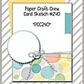 Pccc#240 paper craft crew challenges