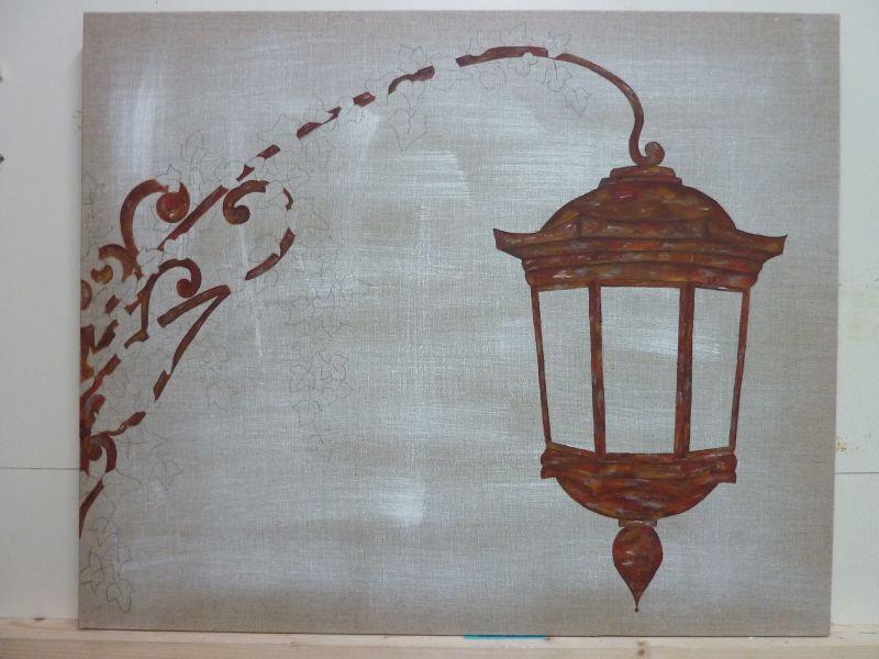 karine lampadaire florence melocco cours de peintures d coratives et patines. Black Bedroom Furniture Sets. Home Design Ideas