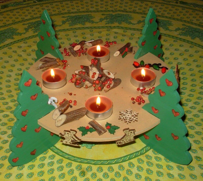 Decoration de noel table a faire soi meme - Deco de noel a faire sois meme ...