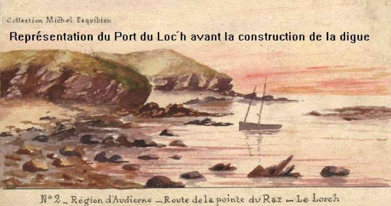 représentation du Port du Loch Primelin en 1900