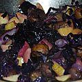Poélée de chou rouge au jus de pomme, châtaignes, pomme mi-cuite