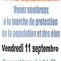 11 septembre > marche de protestation