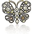 An impressive diamond butterfly brooch