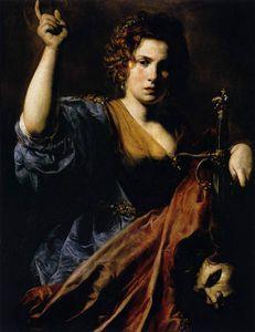 VALENTIN DE BOULOGNE 1626-28 Judith-Toulouse Musee des Augustins