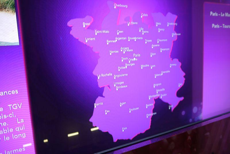 TGV expérience : la nouvelle carte de France