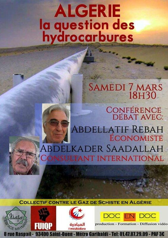 conférence hydrocarbures algerie st ouen