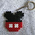 Portes clés en perles hama