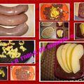 Boudin aux pommes, champignons et échalotes