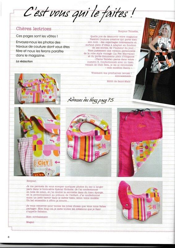 Passion Couture Créative n° 7 -janvier février mars 2015 - page 8