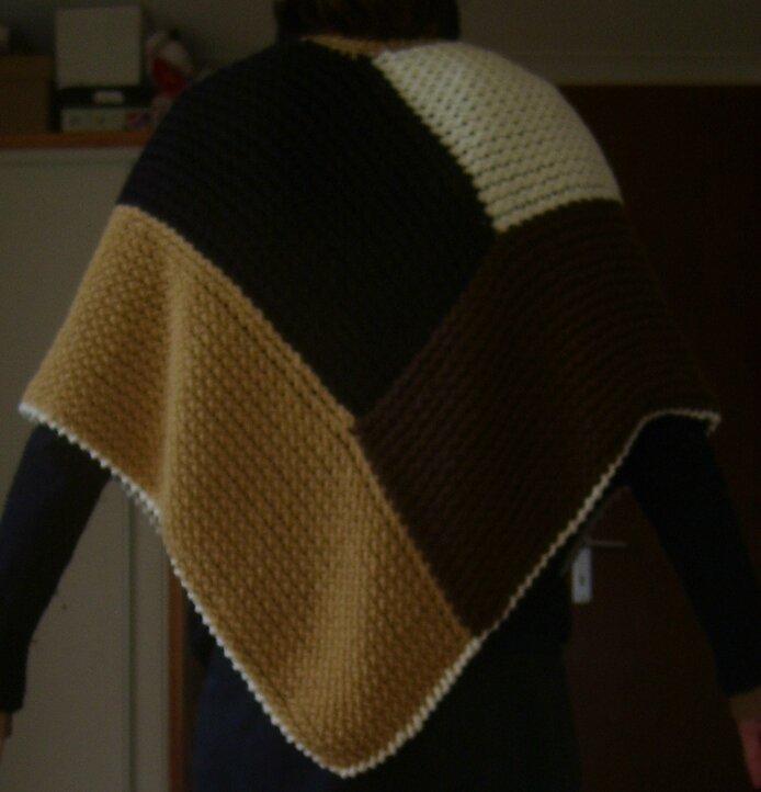 Mon projet de poncho au tricotin g ant les - Les differents points au tricotin ...